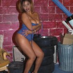 Ebony babe in blue 6