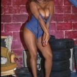 Ebony babe in blue yummy