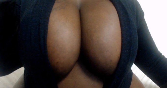 Big ebony breast of South Africa